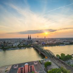 Sunset view of cologne in summer- Stock Photo or Stock Video of rcfotostock | RC-Photo-Stock