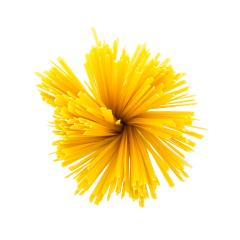 swirl of Fettuccine pasta noodles on white- Stock Photo or Stock Video of rcfotostock | RC-Photo-Stock