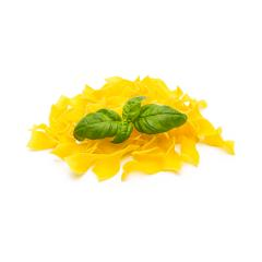 tagliatelle noodels heap with basil leaf- Stock Photo or Stock Video of rcfotostock | RC-Photo-Stock