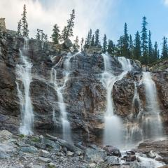 Tangle Creek Falls at national park Canada  : Stock Photo or Stock Video Download rcfotostock photos, images and assets rcfotostock | RC-Photo-Stock.: