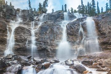 Tangle Falls near Jasper Canada  : Stock Photo or Stock Video Download rcfotostock photos, images and assets rcfotostock | RC-Photo-Stock.: