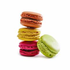 Tasty colorful macaroon on a white background- Stock Photo or Stock Video of rcfotostock | RC-Photo-Stock