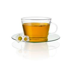 Teacup glass with chamomile daisy hot drink medicine isolated on white background with reflection : Stock Photo or Stock Video Download rcfotostock photos, images and assets rcfotostock | RC-Photo-Stock.: