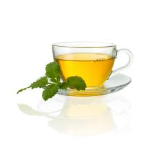 teacup tea with mint peppermint leaf hot drink aroma isolated on white with bubbles- Stock Photo or Stock Video of rcfotostock | RC-Photo-Stock