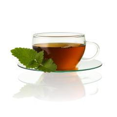 teacup tea with mint peppermint leaf hot drink aroma isolated on white background with reflection - Stock Photo or Stock Video of rcfotostock | RC-Photo-Stock