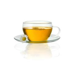 teapot cup tea with chamomile daisy hot drink aroma isolated on white background with reflection- Stock Photo or Stock Video of rcfotostock | RC-Photo-Stock