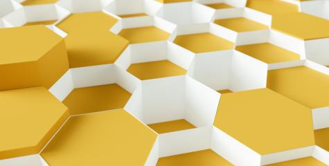 technology hexagon pattern honeycomb background - 3d rendering - Illustration - Stock Photo or Stock Video of rcfotostock | RC-Photo-Stock