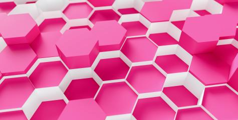 technology hexagon pattern pink background - 3d rendering - Illustration - Stock Photo or Stock Video of rcfotostock | RC-Photo-Stock