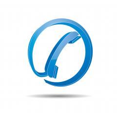 Telefon Zeichen würfel in blauer Farbe. Vektorillustration. Eps 10 Vektordatei- Stock Photo or Stock Video of rcfotostock | RC-Photo-Stock