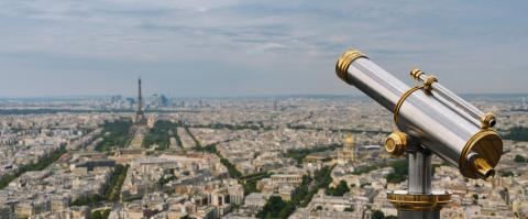 Telescope view from the paris skyline- Stock Photo or Stock Video of rcfotostock | RC-Photo-Stock
