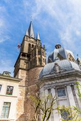 the Aachen Cathedral at summer- Stock Photo or Stock Video of rcfotostock | RC-Photo-Stock