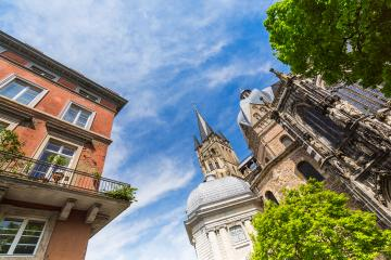 the Cathedral of Aachen at summer- Stock Photo or Stock Video of rcfotostock | RC-Photo-Stock