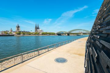 the deutzer rhine boulevard in Cologne at summer- Stock Photo or Stock Video of rcfotostock | RC-Photo-Stock