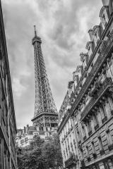 The Eiffel Tower in Paris, France in black and white colors- Stock Photo or Stock Video of rcfotostock | RC-Photo-Stock