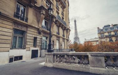 the Eiffel Tower view from the Avenue de Camoens in paris, france- Stock Photo or Stock Video of rcfotostock | RC-Photo-Stock