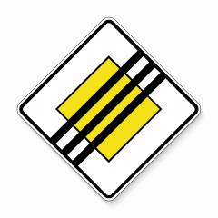 The end of the Priority road Traffic sign. German road sign: end of respect the right of way. Yield! on main road on white background. Vector illustration. Eps 10 vector file.- Stock Photo or Stock Video of rcfotostock | RC-Photo-Stock