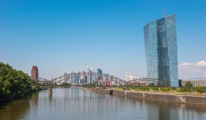 The European Central Bank with Frankfurt city Skyline- Stock Photo or Stock Video of rcfotostock | RC-Photo-Stock