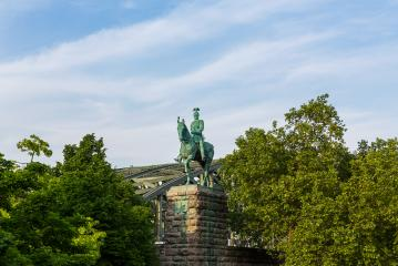 The Kaiser Wilhelm II equestrian statue at the Hohenzollern bridge : Stock Photo or Stock Video Download rcfotostock photos, images and assets rcfotostock | RC-Photo-Stock.:
