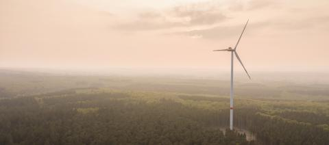 The mountain wind turbines in the sunrise and sunset of the clouds, copyspace for your individual text.- Stock Photo or Stock Video of rcfotostock | RC-Photo-Stock