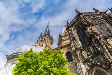 the old Cathedral of Aachen at summer- Stock Photo or Stock Video of rcfotostock | RC-Photo-Stock