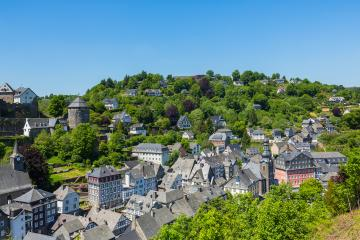 The Old Town of Monschau at summer- Stock Photo or Stock Video of rcfotostock | RC-Photo-Stock