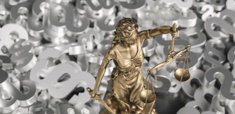 The Statue of Justice - lady justice Justitia the Roman goddess of Justice with paragraphs : Stock Photo or Stock Video Download rcfotostock photos, images and assets rcfotostock | RC-Photo-Stock.: