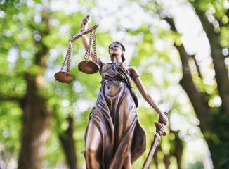 The Statue of Justice - lady justice or Iustitia / Justitia- Stock Photo or Stock Video of rcfotostock | RC-Photo-Stock