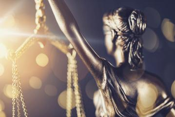 The Statue of Justice - lady justice or Iustitia / Justitia the Roman goddess of Justice - with bokeh- Stock Photo or Stock Video of rcfotostock | RC-Photo-Stock
