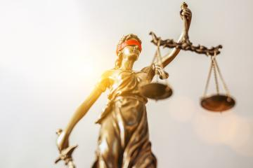 The Statue of Justice - lady justice or Iustitia / Justitia the Roman goddess of Justice- Stock Photo or Stock Video of rcfotostock | RC-Photo-Stock