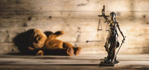 The Statue of Justice symbol with teddy bear, legal law rape concept image- Stock Photo or Stock Video of rcfotostock | RC-Photo-Stock