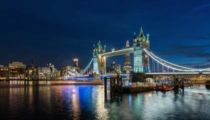 The Tower bridge in London illuminated at night, UK.- Stock Photo or Stock Video of rcfotostock | RC-Photo-Stock