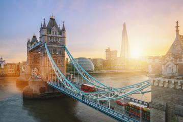 The Tower Bridge in London, the UK. Sunset with beautiful clouds- Stock Photo or Stock Video of rcfotostock | RC-Photo-Stock