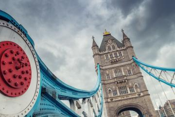 The Tower Bridge in London with dramatic cloudy sky.- Stock Photo or Stock Video of rcfotostock | RC-Photo-Stock