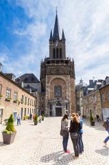 the Westwerk of the Aachen Cathedral - Stock Photo or Stock Video of rcfotostock | RC-Photo-Stock