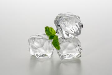 Three chunks of ice with mint : Stock Photo or Stock Video Download rcfotostock photos, images and assets rcfotostock   RC-Photo-Stock.: