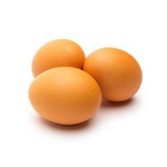 Three Eggs on white- Stock Photo or Stock Video of rcfotostock | RC-Photo-Stock