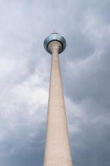 thunderstorm at the tv tower Rheinturm of Dusseldorf in Germany- Stock Photo or Stock Video of rcfotostock | RC-Photo-Stock