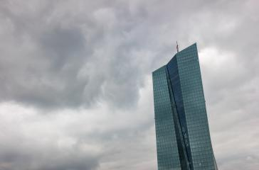 thunderstorm over the European Central Bank or ECB in Frankfurt - Stock Photo or Stock Video of rcfotostock | RC-Photo-Stock