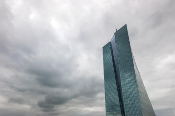 thunderstorm over the headquarters of the European Central Bank or ECB in Frankfurt am Main- Stock Photo or Stock Video of rcfotostock | RC-Photo-Stock