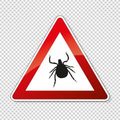 Tick warning or attention. danger or Danger zone of ticks, prohibition sign,  on transparent background. Vector illustration. Eps 10 vector file. : Stock Photo or Stock Video Download rcfotostock photos, images and assets rcfotostock | RC-Photo-Stock.: