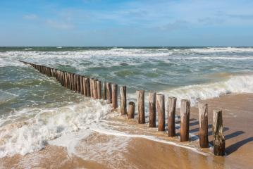 Timber Piles at the beach in Domburg / Netherlands- Stock Photo or Stock Video of rcfotostock | RC-Photo-Stock