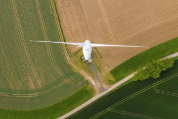 top aerial view of wind turbine- Stock Photo or Stock Video of rcfotostock | RC-Photo-Stock