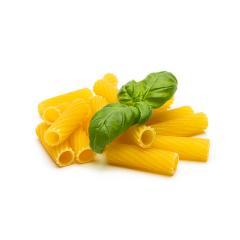 Tortiglioni pasta with basil leaf- Stock Photo or Stock Video of rcfotostock | RC-Photo-Stock