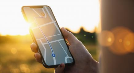 Tourist using GPS map navigation app on smartphone screen to get direction to destination address in the landscape, travel and technology concept image : Stock Photo or Stock Video Download rcfotostock photos, images and assets rcfotostock | RC-Photo-Stock.: