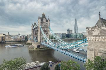 Tower bridge and London city hall with dramatic clouds, UK- Stock Photo or Stock Video of rcfotostock | RC-Photo-Stock