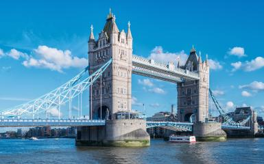 Tower Bridge at summer with blue sky in London, UK- Stock Photo or Stock Video of rcfotostock | RC-Photo-Stock