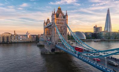 Tower Bridge in London, the UK. Sunset with beautiful clouds : Stock Photo or Stock Video Download rcfotostock photos, images and assets rcfotostock | RC-Photo-Stock.: