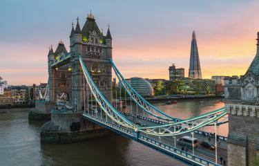 Tower Bridge in London, UK. Sunset with beautiful clouds- Stock Photo or Stock Video of rcfotostock | RC-Photo-Stock