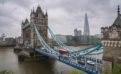 Tower Bridge in London with dramatic cloudy sky, the UK- Stock Photo or Stock Video of rcfotostock | RC-Photo-Stock