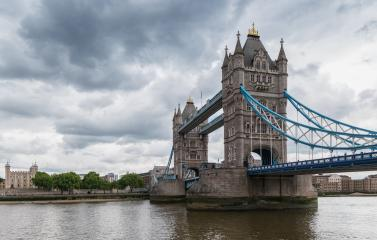 Tower Bridge in London with dramatic cloudy sky, UK- Stock Photo or Stock Video of rcfotostock | RC-Photo-Stock